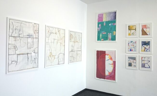 Friedrich G. Scheuer - Works on paper and pictures 2013-2016, installation view