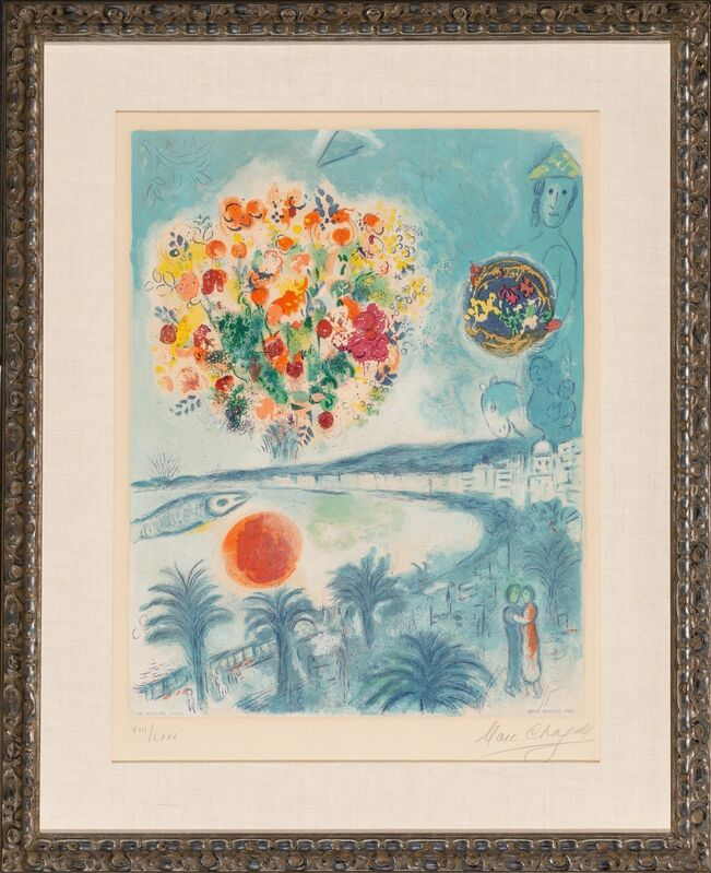 Marc Chagall, 'Sunset', 1967, Print, Lithograph in colors on Arches paper, Heritage Auctions