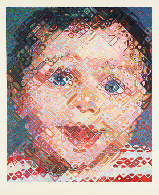 Chuck Close, 'Emma', 2002, Print, Woodcut in 113 colors, on Shiramine paper, with full margins., Phillips