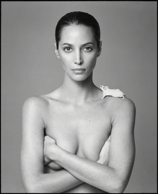 Patrick Demarchelier, 'Christy and Mouse', 1999, Photography, Gelatin Silver Print, CAMERA WORK