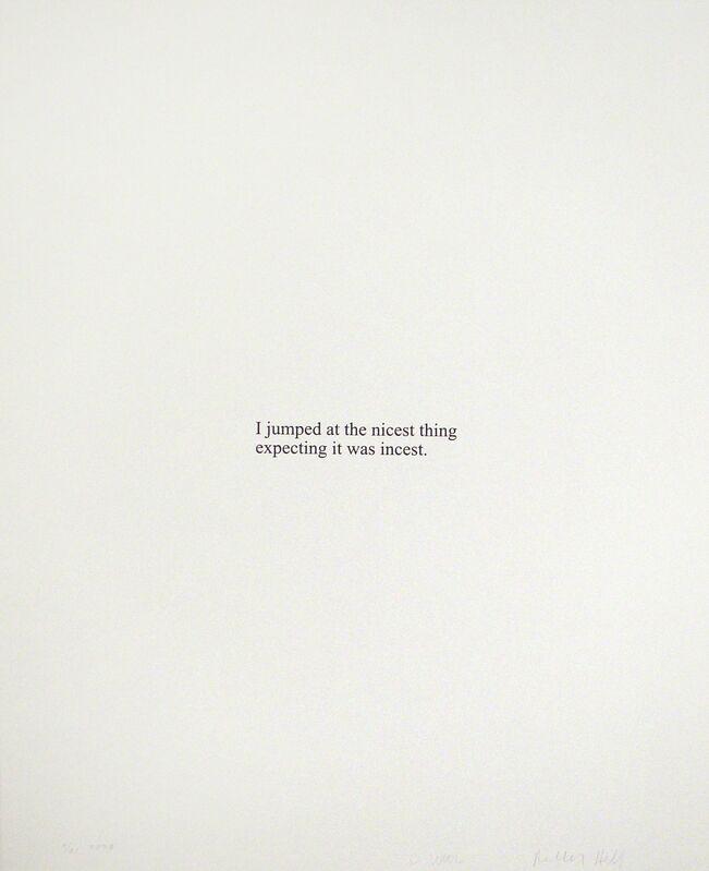 Christopher Wool, 'I Jumped At...', 2008, Print, Silkscreen, Soho Contemporary Art