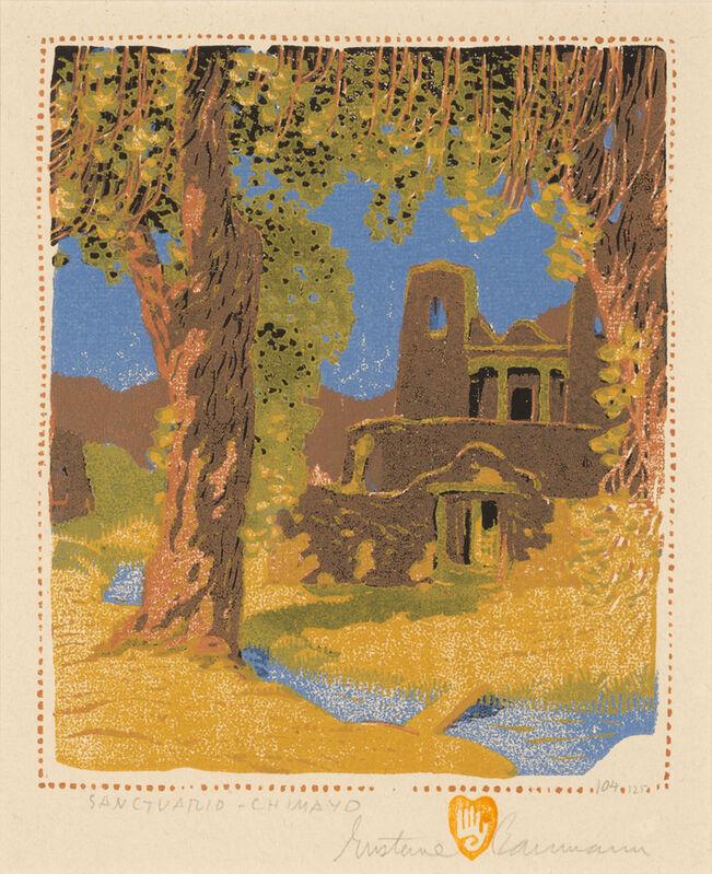 Gustave Baumann, 'Sanctuario-Chimayo', 1924, Print, Color woodcut on paper, Aaron Payne Fine Art