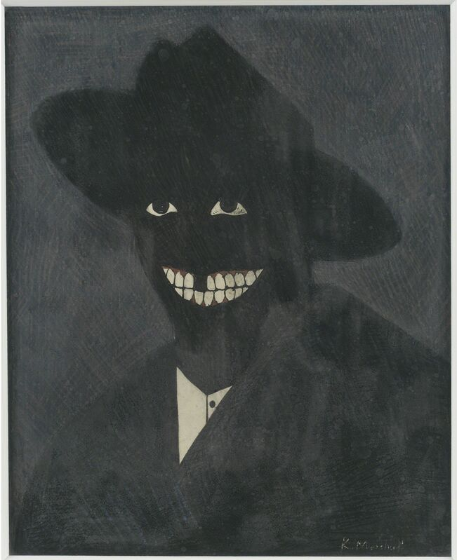 Kerry James Marshall, ' A Portrait of the Artist as a Shadow of His Former Self', 1980, Painting, Egg tempera on paper, MCA Chicago