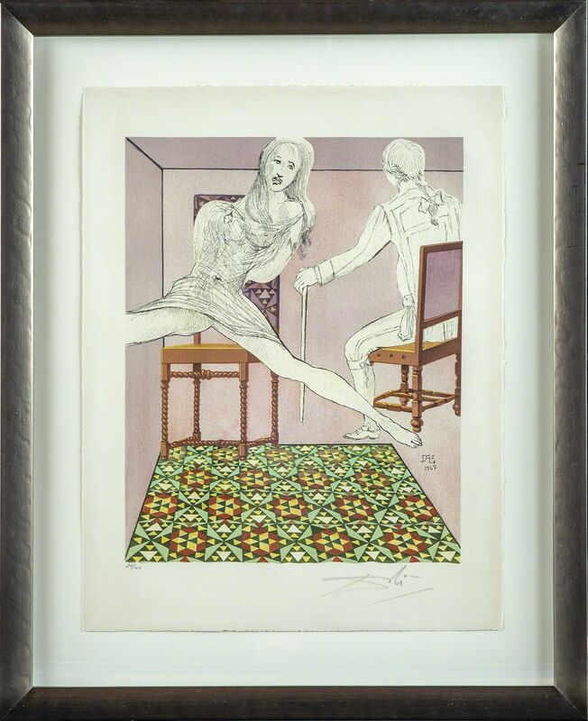 Salvador Dalí, 'Marianne and the Chevalier', 1969, Print, Print, Modern Artifact