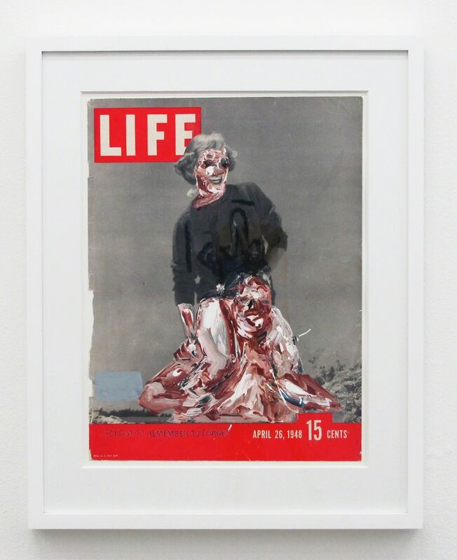 John Copeland, 'Untitled', 2013, Painting, Acrylic and oil on magazine cover, V1 Gallery