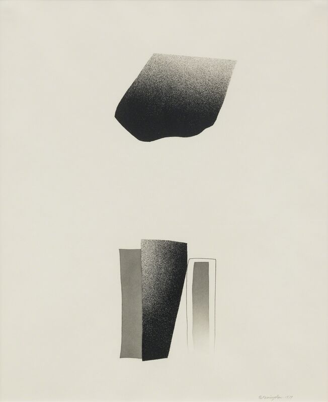 Deborah Remington, 'Trace Series #4 (1)', 1979, Drawing, Collage or other Work on Paper, Black spray paint, pencil, graphite, Kimmerich Gallery