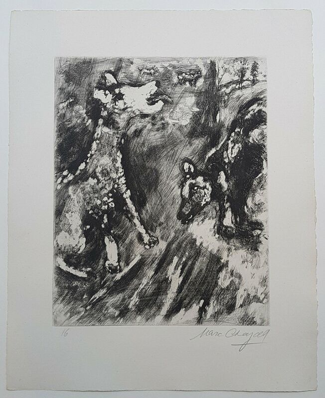 Marc Chagall, 'The Bitch and her friend', 1952, Print, Etching on laid paper, Hidden