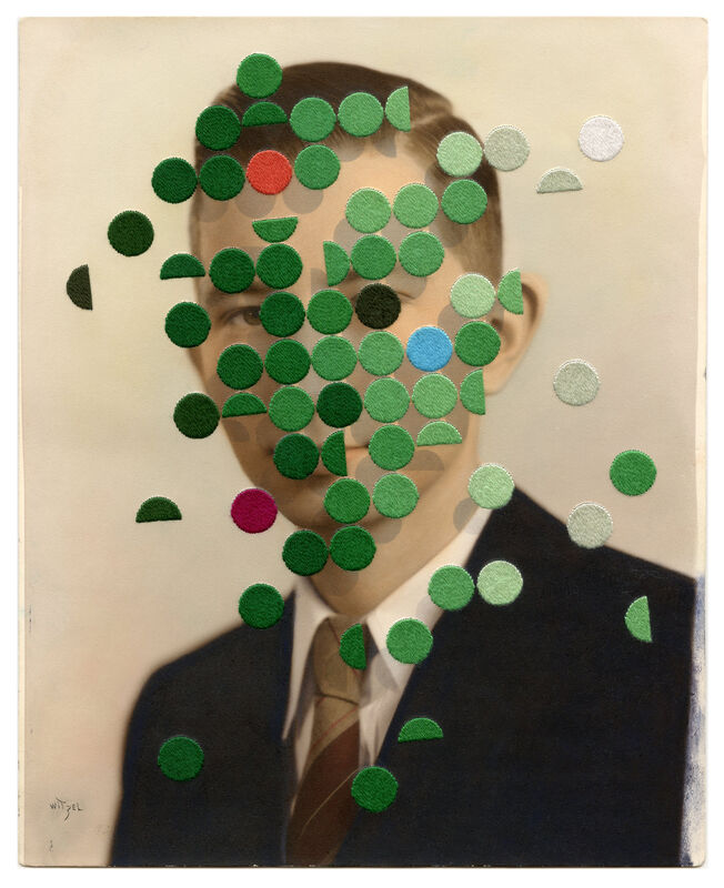 Julie Cockburn, 'Ecologist', 2019, Photography, Hand embroidery and inkjet on found photograph, bo.lee gallery