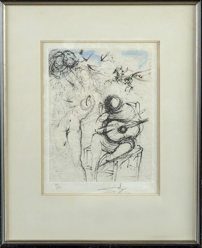 Salvador Dalí, 'Nu a la Guitare', 1979, Print, Etching, Modern Artifact