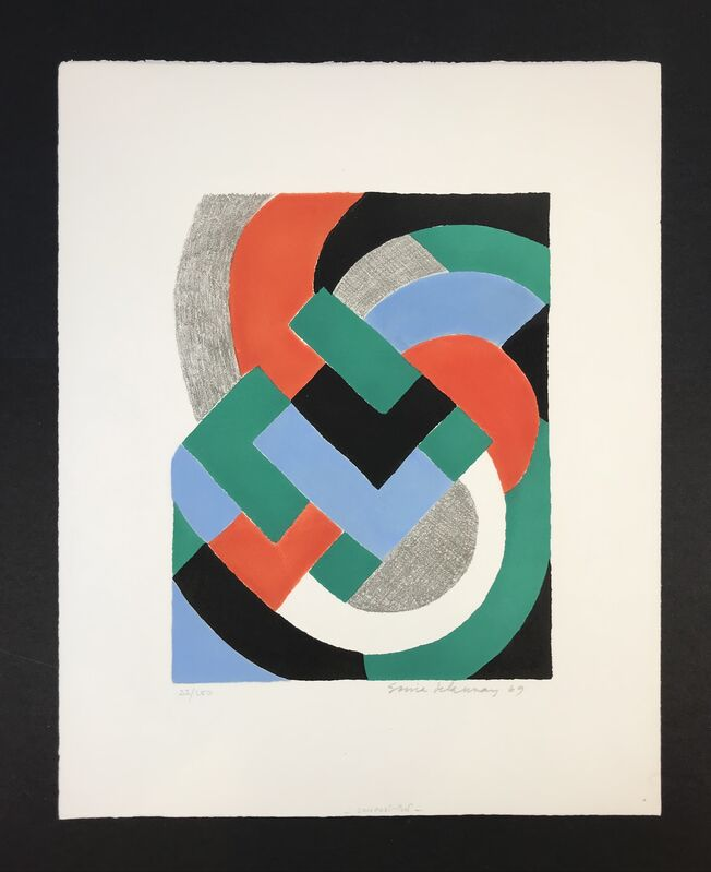 Sonia Delaunay, 'Composition', 1969, Print, Serigraphy on paper, Gutan Art Gallery