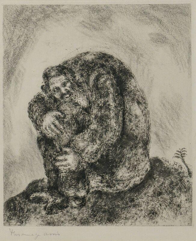 Marc Chagall, 'Elijah on Mount Carmel', 1956, Print, Etching on paper, Skinner