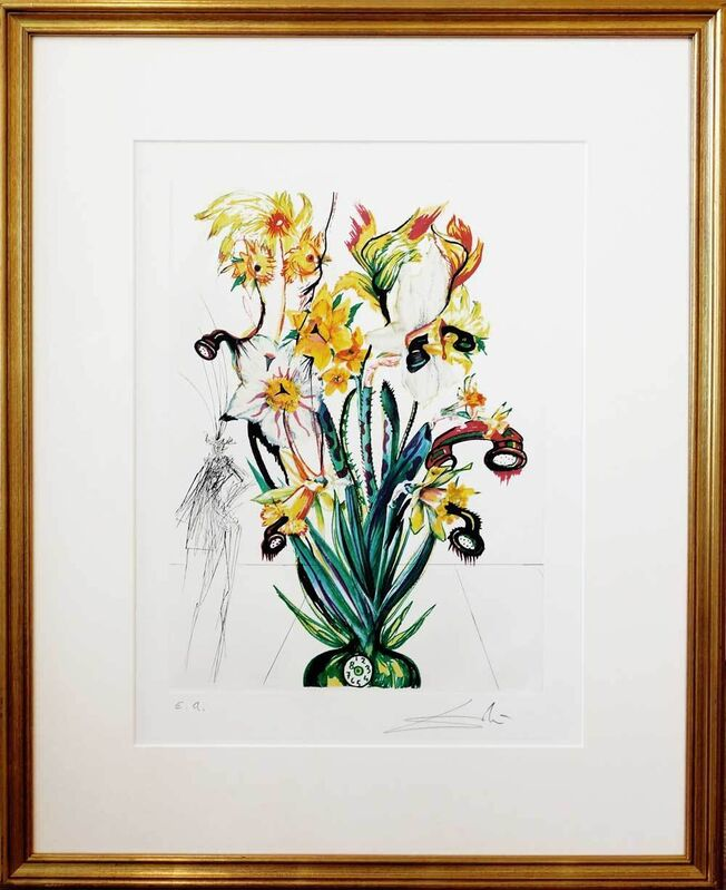 Salvador Dalí, 'Narcissus telephonans inondis', 1972, Print, Heliogravure with etching and embossing on paper, Galerie Kellermann