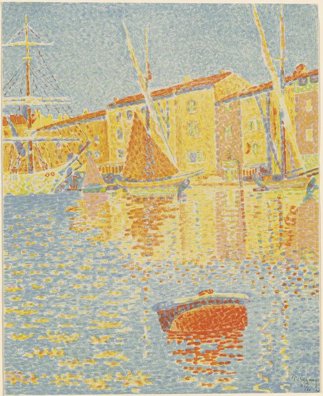 Paul Signac, 'The Buoy (La bouée)', 1894, Print, 6-color lithograph, National Gallery of Art, Washington, D.C.