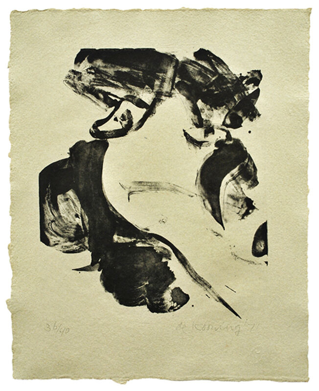 Willem de Kooning, 'With Love', 1971, Print, Lithograph on gray-cream Jeff Goodman paper, Mary Ryan Gallery, Inc