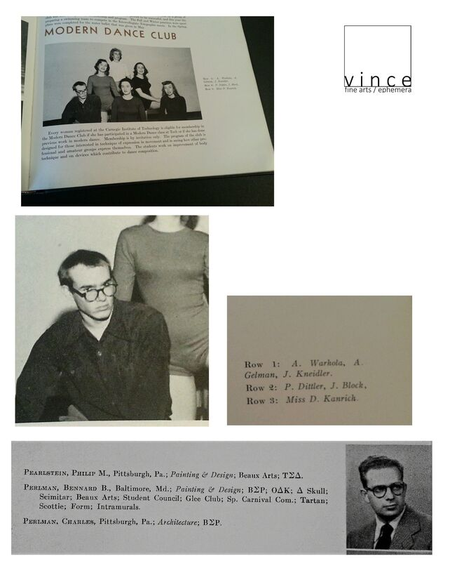 Andy Warhol, 'College Yearbook & Graduation Commencement Program/Invitation, Carnegie Institute of Technology Pittsburgh', 1949, Print, Lithograph on paper, VINCE fine arts/ephemera