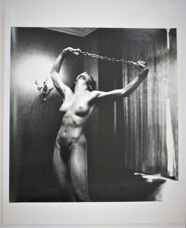 Helmut Newton, 'Lisa Lyons in Paris III', 1980, Photography, Gelatin silver print, Hal Katzen Gallery