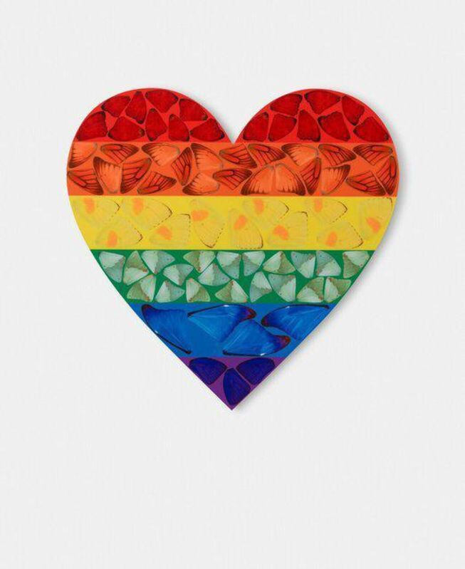 Damien Hirst, 'Butterfly Heart (H7-4)', 2020, Print, Laminated Giclée print on aluminium composite panel, Dellasposa