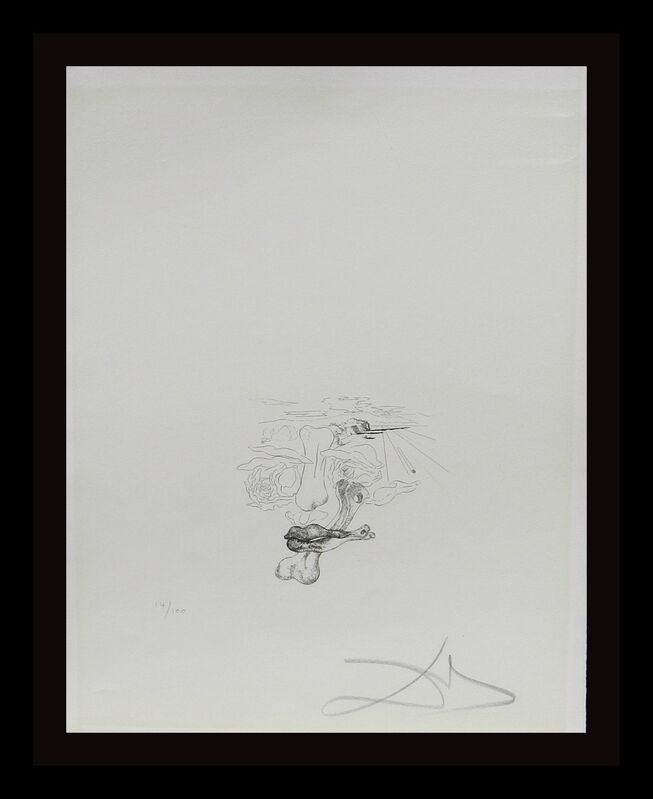 Salvador Dalí, 'Les Chants de Maldoror (Tongue)', 1934, Print, Etching, Fine Art Acquisitions Dali