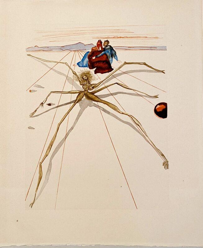 Salvador Dalí, 'La Divine Comédie - Purgatoire 17 - Quittant la corniche', 1963, Print, Original wood engraving on BFK Rives paper, Samhart Gallery
