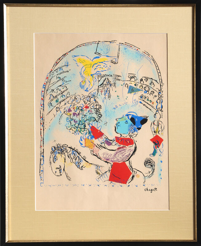 Marc Chagall, 'The Circus with the Angel', circa 1968, Print, Lithograph on Laid Paper, signed in the plate, RoGallery