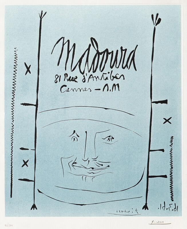Pablo Picasso, 'Madoura, 1961', 1961, Print, Color Linocut with Arches watermark, Masterworks Fine Art