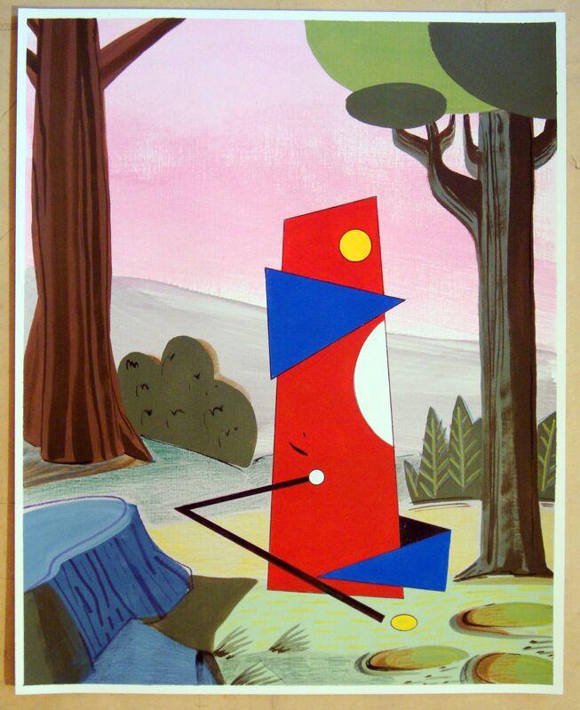 Adriana Minoliti, 'De la serie Fantasías No. 3', 2015, Drawing, Collage or other Work on Paper, Acrylic, pencil and on ink paper, Diablo Rosso