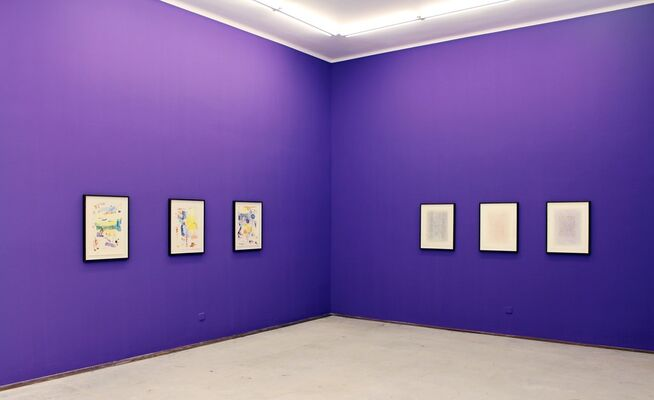 "CARSTEN FOCK, ""Purple Sun"", installation view"