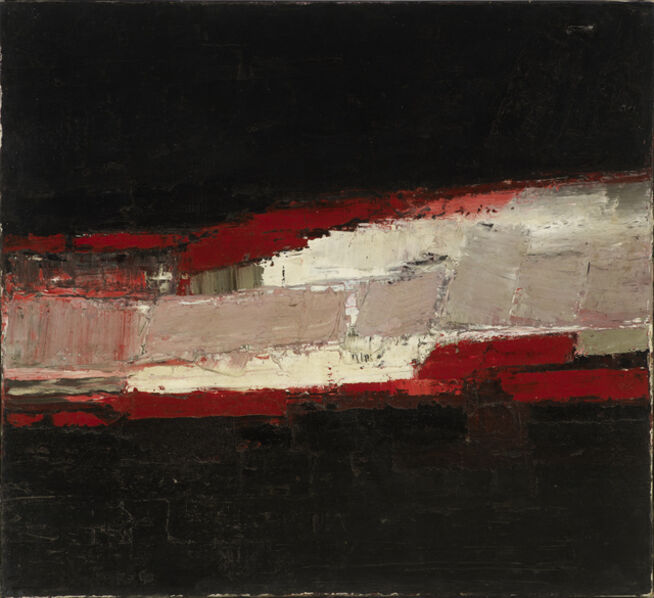Peter Kinley, 'No. 1 Red White + Black', ca. 1958