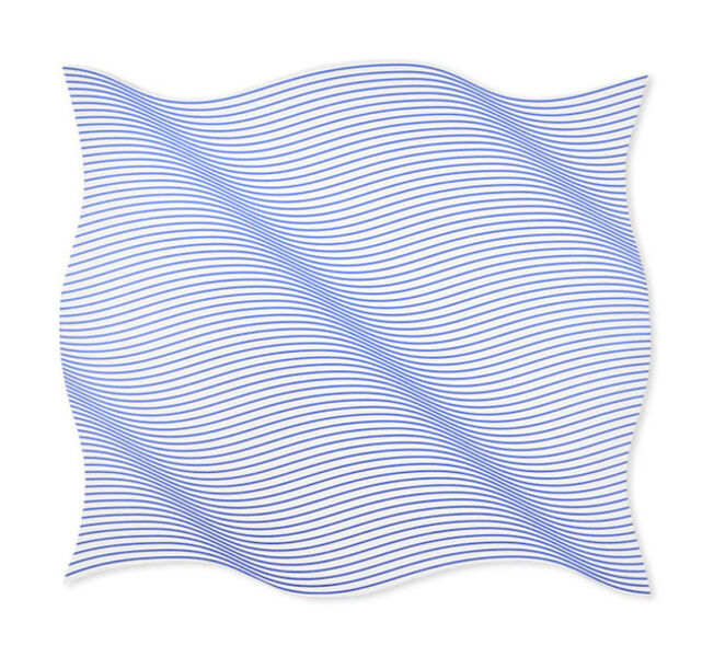 Philippe Decrauzat, 'Flag Wave Half Speed Iridescent', 2019