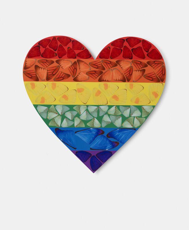 Damien Hirst, 'H7-3 Rainbow Butterfly Heart', 2020, Print, Laminated Giclée print on aluminium composite panel, Ransom Art