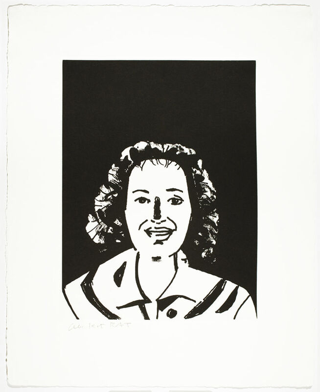 Alex Katz, 'Lysa', 2017, Print, 1-color photogravure with aquatint, hand-pulled on 400 gsm Twinrocker White handmade paper with deckle edges, Haw Contemporary