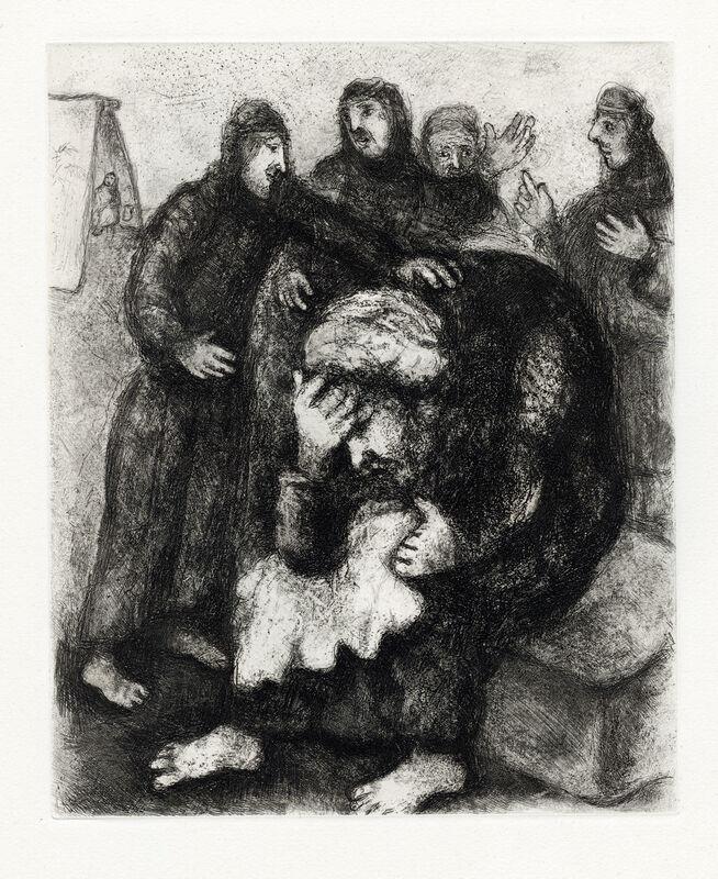 Marc Chagall, 'Jacob Pleurant Joseph (Jacob Weeps for Joseph)', 1956, Print, Etching, Goldmark Gallery
