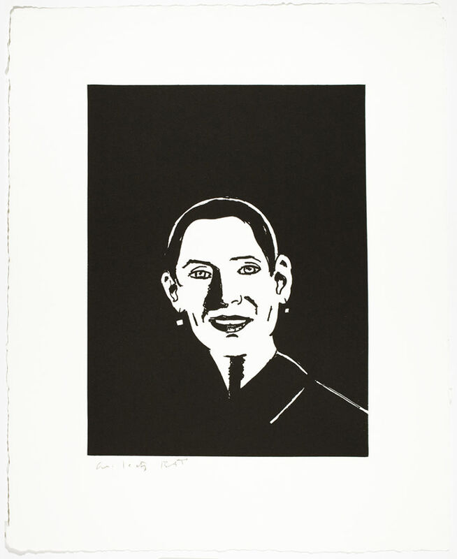 Alex Katz, 'Ursula', 2017, Print, 1-color photogravure with aquatint, hand-pulled on 400 gsm Twinrocker White handmade paper with deckle edges, Haw Contemporary
