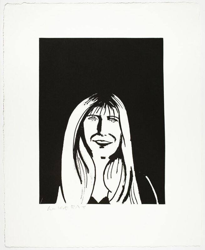 Alex Katz, 'Karen', 2017, Print, 1-color photogravure with aquatint, hand-pulled on 400 gsm Twinrocker White handmade paper with deckle edges, Haw Contemporary