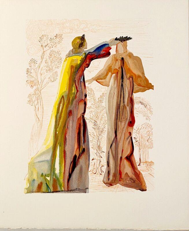 Salvador Dalí, 'La Divine Comédie - Purgatoire 27 - Les dernières paroles', 1963, Print, Original wood engraving on BFK Rives paper, Samhart Gallery