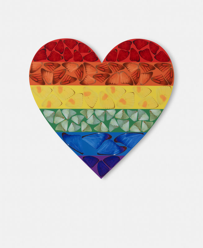 Damien Hirst, 'H7-4 Butterfly Heart (Small)', 2020, Print, Laminated Giclée print on aluminium composite panel, Lougher Contemporary