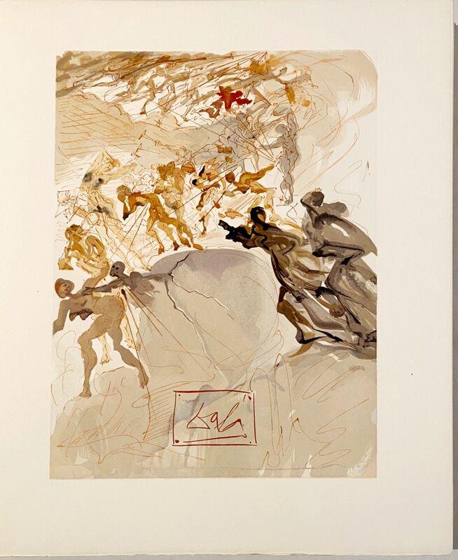 Salvador Dalí, 'La Divine Comédie - Purgatoire 25 - La luxure', 1963, Print, Original wood engraving on BFK Rives paper, Samhart Gallery