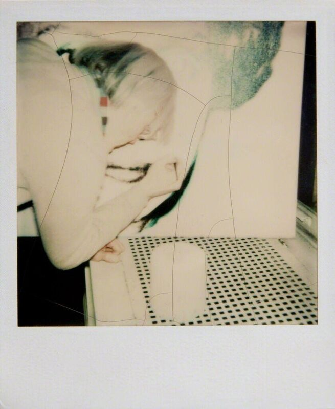Andy Warhol, 'Andy Warhol, Polaroid Photograph of Andy Warhol Painting, 1980', 1980, Photography, Polaroid, Hedges Projects