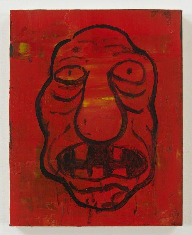 Jim Torok, 'Self-Portrait Red', 2015, Painting, Acrylic on wood panel, Pierogi