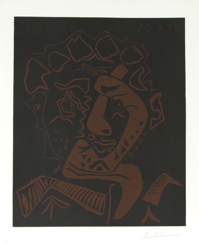 Pablo Picasso, 'Le Danseur', 1965, Print, Linocut in colors, Heather James Fine Art