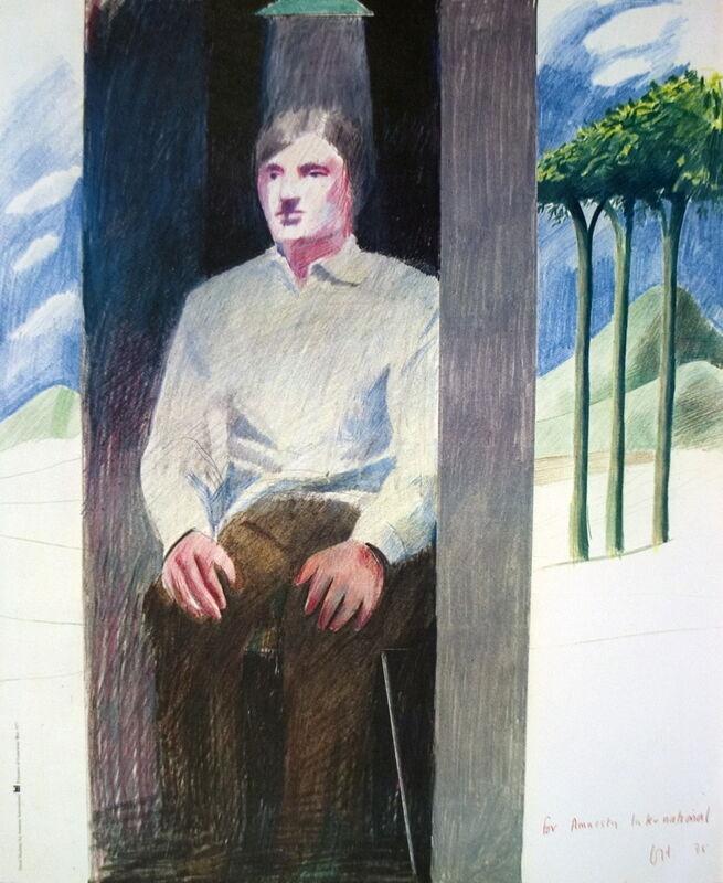 David Hockney, 'Prisoner from Amnesty International', 1977, Ephemera or Merchandise, Offset Lithograph, ArtWise