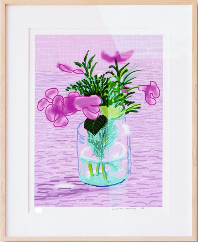 David Hockney, 'A Bigger Book with Untitled 329 [Lilacs] ', 2016, Print, Ink-jet print, Tanya Baxter Contemporary