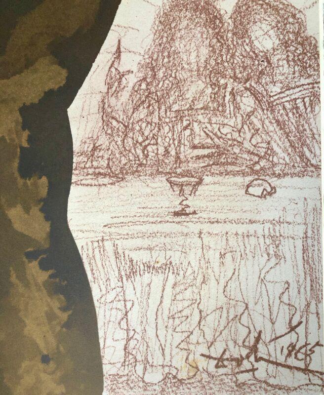 Salvador Dalí, 'And After The Morsel, Satan Entered Into Him, 'Et Post Buccellam Introivit In Cum Satanas', Biblia Sacra', 1967, Print, Original Lithograph, Inviere Gallery