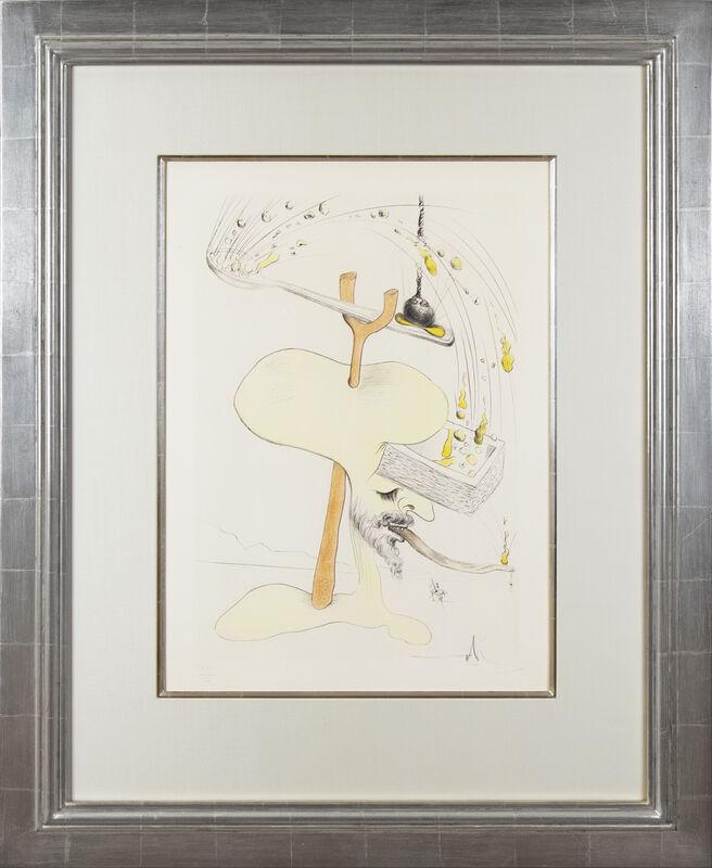 Salvador Dalí, 'Visions de Quevedo: Hommage à Quevedo', 1975, Print, Engraving and color pochoir on Richard de Bas paper, Galerie Michael