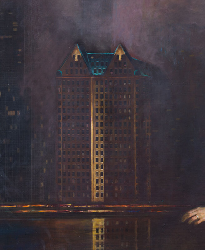 Robert Zeller, 'Daisy on the Queensboro', 2018, Painting, Oil on Linen, Aux Gallery