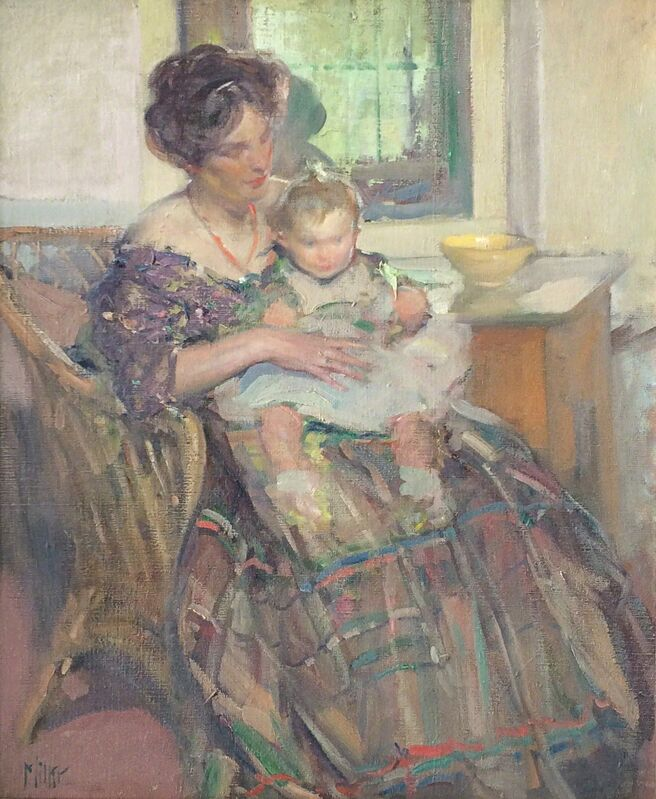 Richard Edward Miller, 'Mother and Child', 1909, Painting, Oil on canvas, Caldwell Gallery Hudson