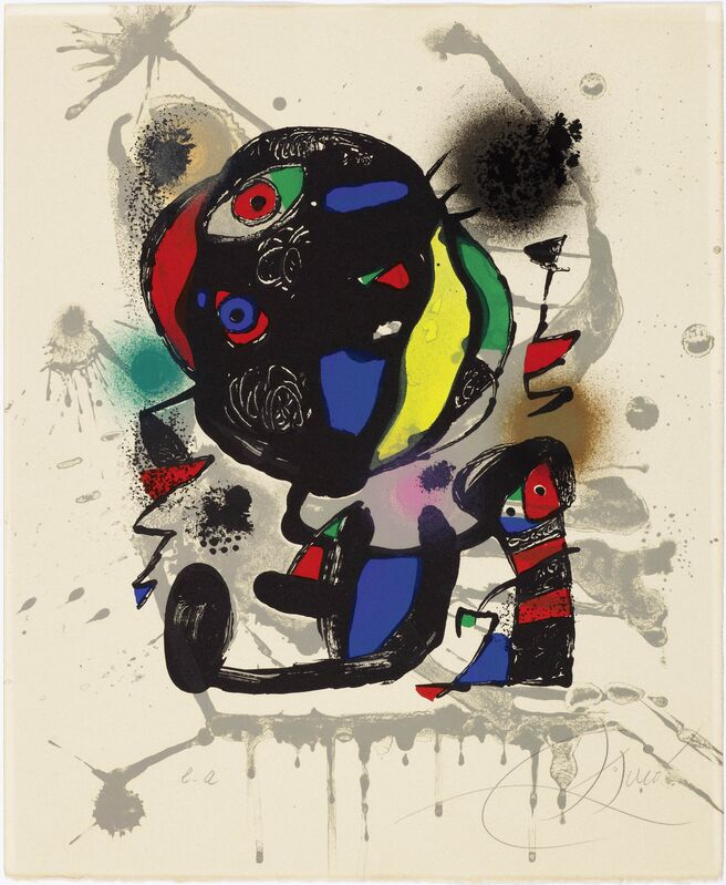 Joan Miró, 'From: Lithograph IV', 1981, Print, Colour lithgraph, Koller Auctions