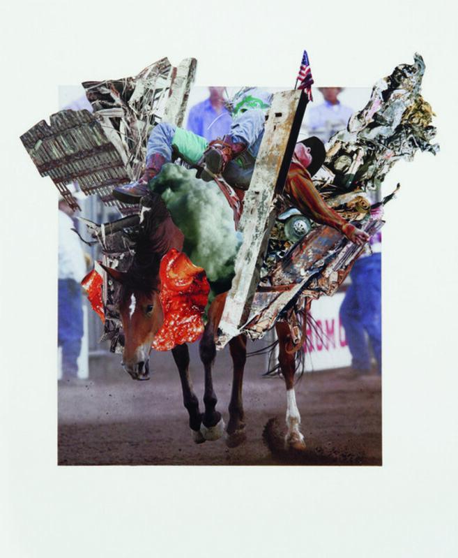 Ashkan Honarvar, 'Rodeo 25', 2011, Mixed Media, Collage, International Collage Center