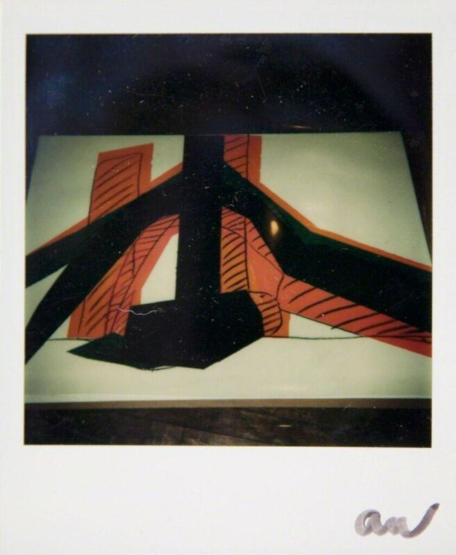 Andy Warhol, 'Andy Warhol, Polaroid Photo of a Hammer & Sickle Painting Detail (Black and Orange), 1977', 1977, Photography, Polaroid, Hedges Projects