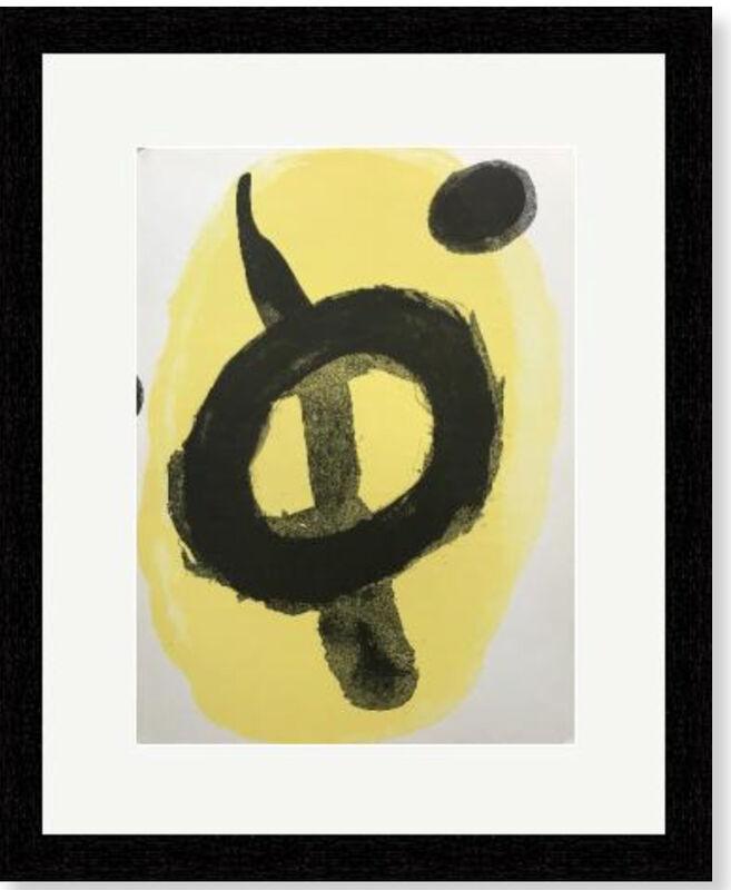 Joan Miró, 'Abstract, yellow', 1961, Print, Velum paper, Modern-Originals